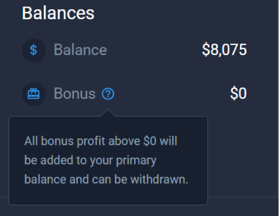 Can I withdraw money from the real balance?