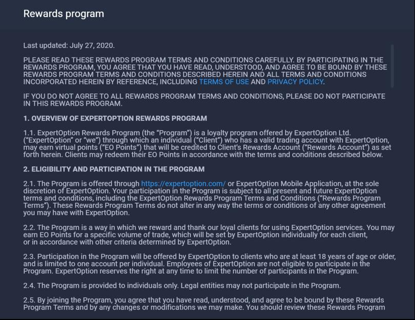Cashback & Rewards program