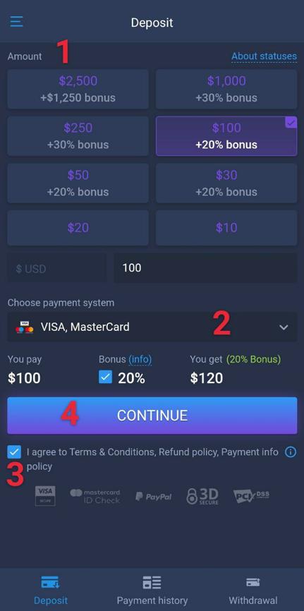 How to make deposit
